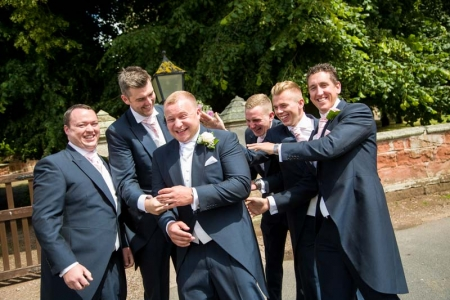 groom, best man and the ushers