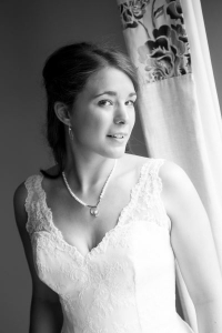bride in black and white - Shropshire Photographer