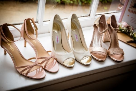 wedding shoes Shropshire Photographer