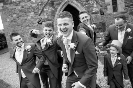 groom and ushers Shropshire Photographer