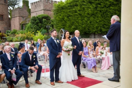 rowton castle outdoor wedding