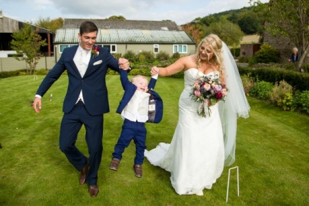 Wedding day fun Shropshire