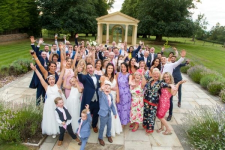 wedding group shot - Rowton Castle
